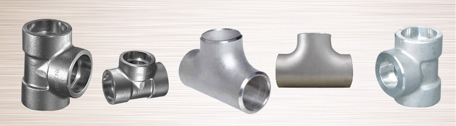 Forged socket weld unequal tee stainless steel